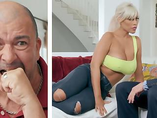 Busty wife fuck abiding husband's queen