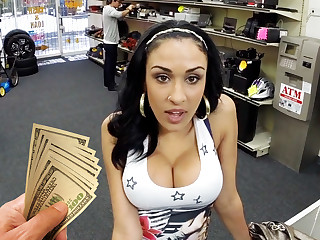 Young latina girl shagging be fitting of money