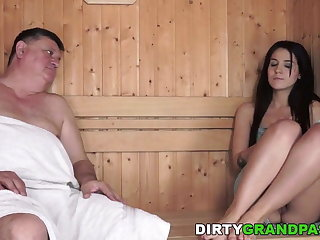 Horny Grandpa and the tiny Bella Beretta