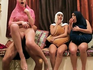 Milf wife partner's sons Hot arab gals try foursome