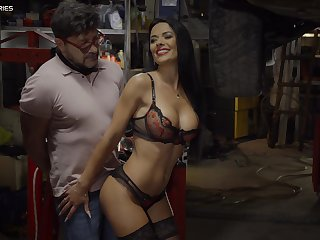 Shalina Devine with amazing body tied up and fucked by a stranger