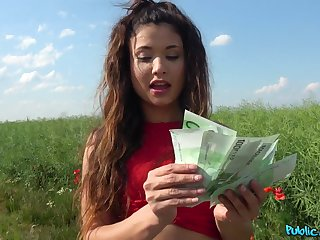 Good fucking after the petite amateur accepts the cash