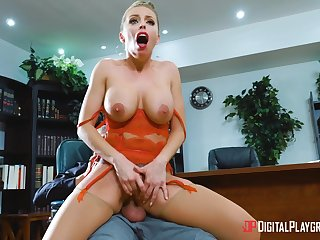 Jobless Britney Amber's office interview ends in shocking sex