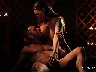 Gorgeous babe Simony Diamond is making love with her admirer
