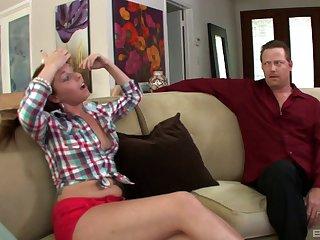 Charming girl Autumn Kline moans during hardcore vaginal sex