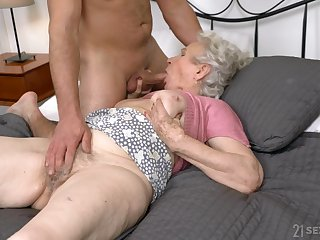 Full sexual passion for grandma