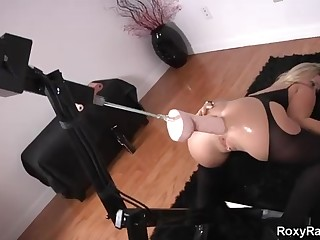 Roxy Raye is oftentimes using a drilling machine for rectal vibration, until she has an climax