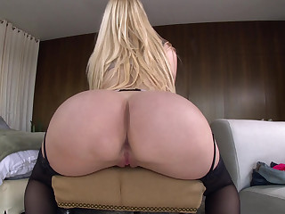 Blonde girl's biggest asset
