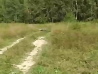 Russian girl is regularly having mischievous fuckfest in the nature, in the extent be advantageous to the day