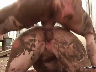 Bony inexperienced brown-haired rectal banged n spunked outdoor in a filthy french shine up to