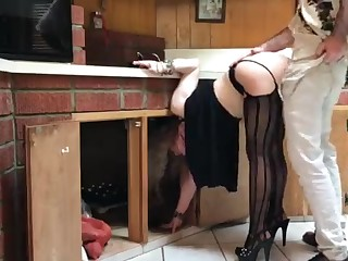 COUGAR stuck in the kitchen drilled wits neighbor (pin)
