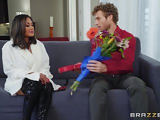 after pussy eating Kaylani Lei can't wait to jump on a hard dick