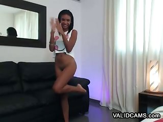 Lewd Ebony 18 Year Old Whore