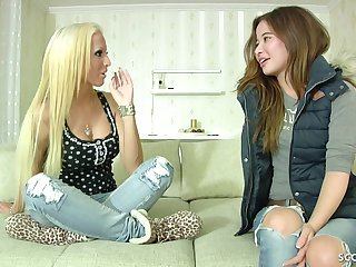 18yr Old Skinny German Young Girl First Lesbian Sex