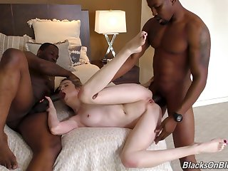 Two Giant Black Cocks In Raunchy Blond Hair Lady - lexi lore