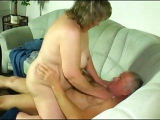 German Grandma and Grandpa Fuck on Camera