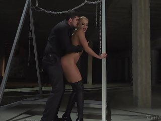 Rough anal domination for the obedient blonde