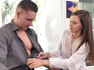 A dude comes to have a good massage with happy end by Kourtney Rae