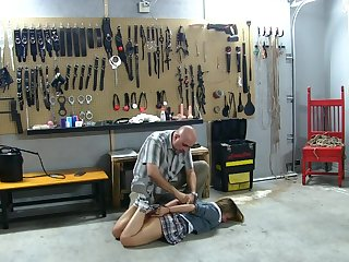 Babysitter Schoolgirl Taught a Hard Lesson in Bondage