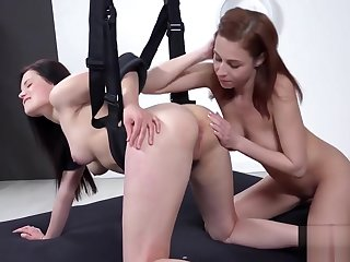 Fervent czech kittens gape their asses with anal plug and thick sex toys