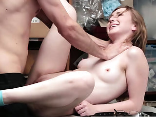 Teen tongue fetish and old guy fucks young brunette