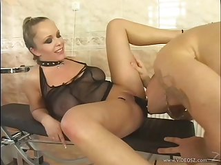 Jessica Moore's shaved pussy gets pounded with a naughty and hot horny stud