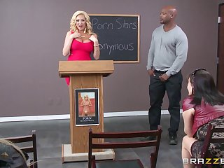 Interracial office sex with big white woman Summer Brielle and a BBC