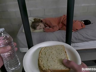 Horny prisoner Cleo Clementine deserves some brutal mouthfuck