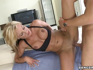 Val Malone fucks younger guy after training