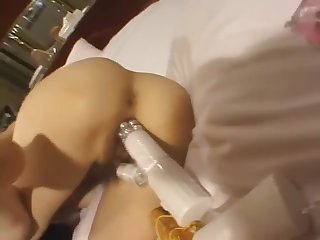 Beautiful girl with big breasts is played with a perverted uncle