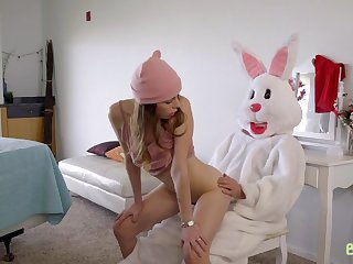 Naughty teen sluts and funny bunnyy - Creampie Surprise